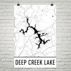 Deep Creek Lake MD Art and Maps