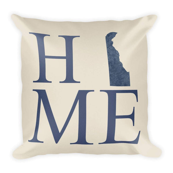 Delaware Map Pillow – Modern Map Art
