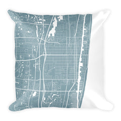 Delray Beach Map Pillow – Modern Map Art