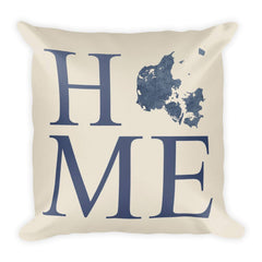Denmark Map Pillow – Modern Map Art