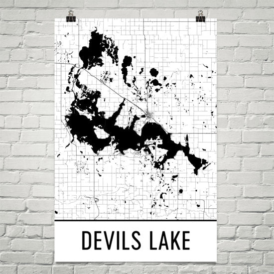 Devils Lake ND Art and Maps