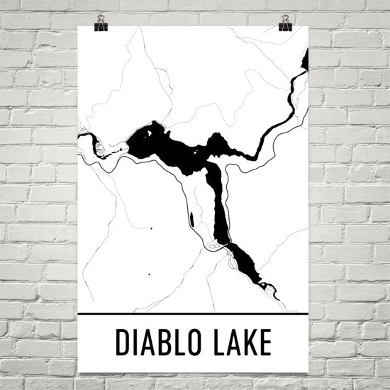 Diablo Lake WA Art and Maps