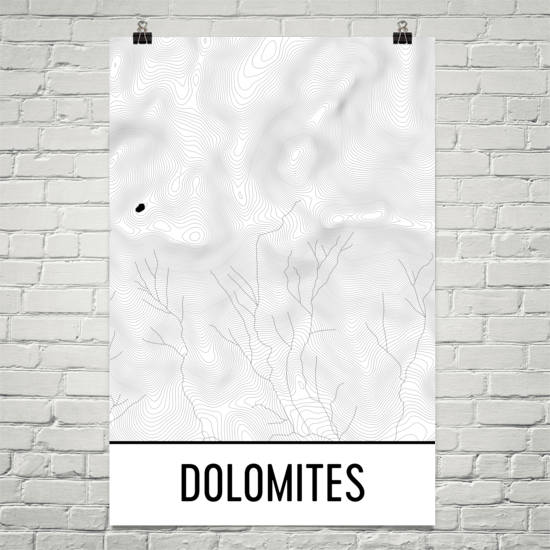 Dolomites Topographic Map Art