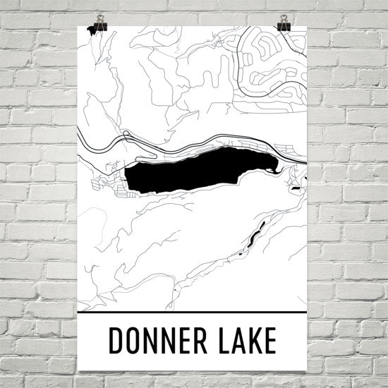 Donner Lake CA Art and Maps