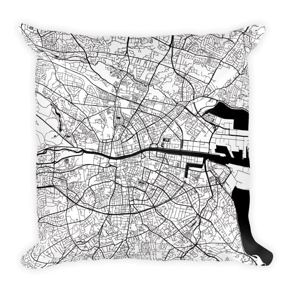 Dublin Map Pillow – Modern Map Art