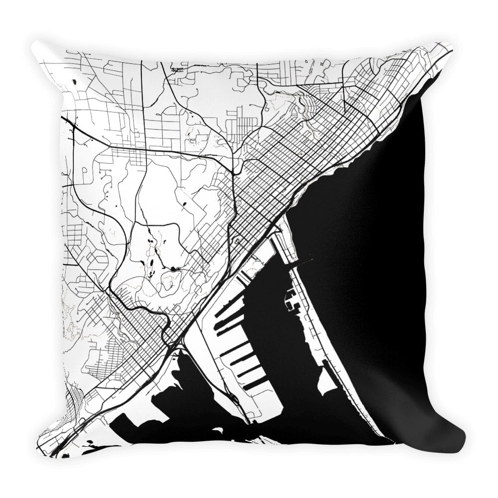 Duluth Map Pillow – Modern Map Art