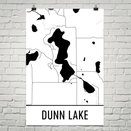 Dunn Lake WI Art and Maps