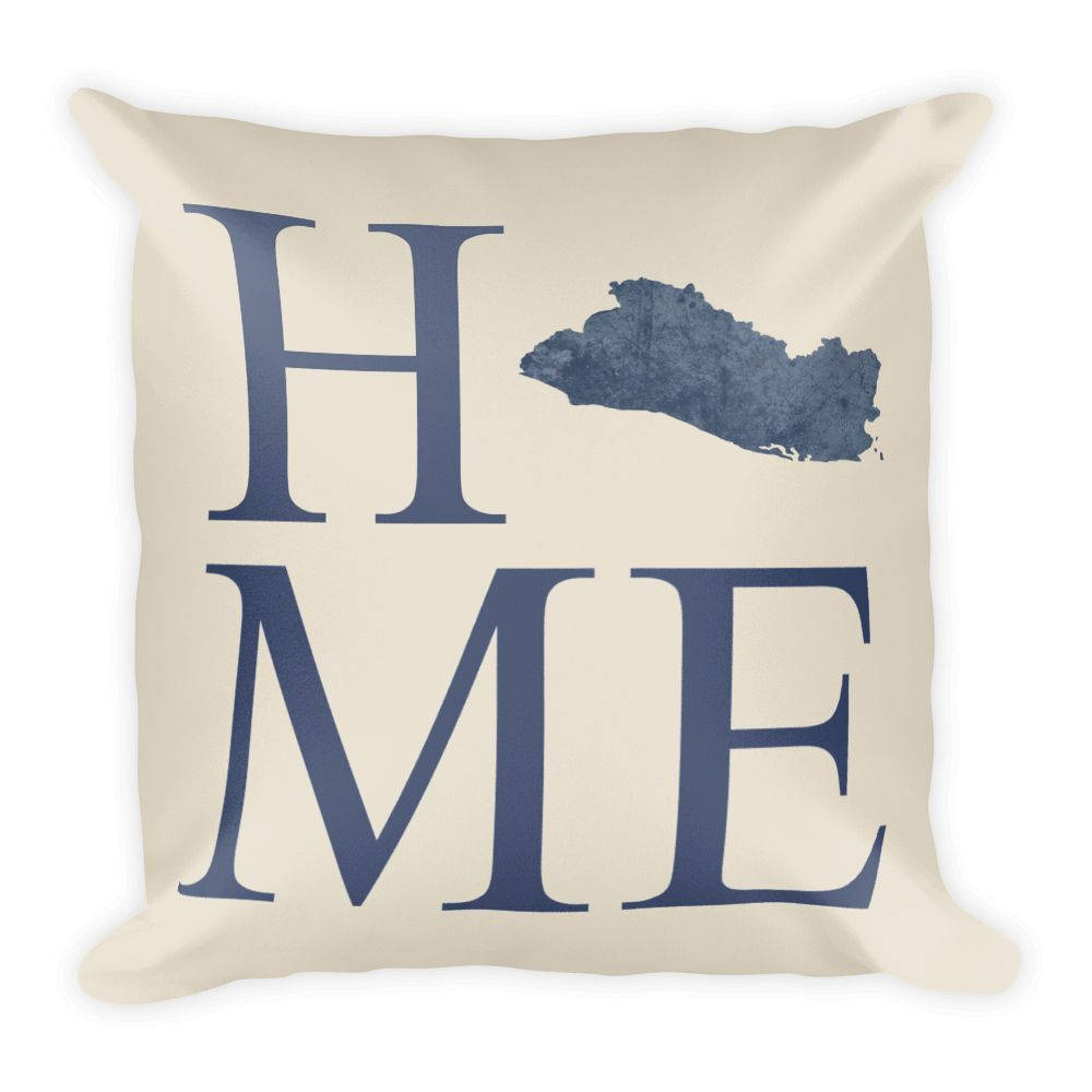 El Salvador Map Pillow – Modern Map Art