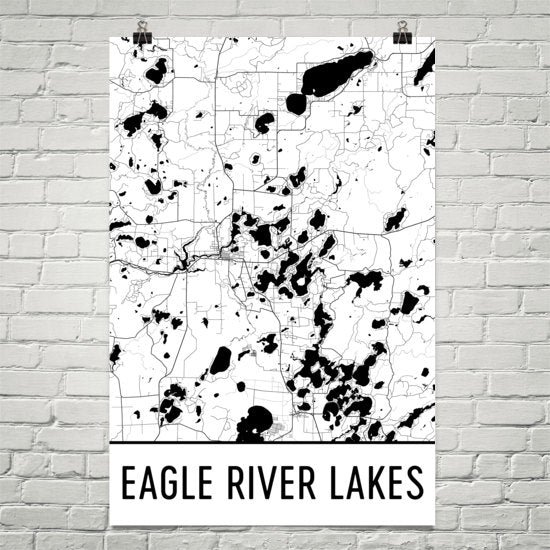 Eagle River Lakes WI Art and Maps