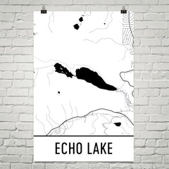 Echo Lake CA Art and Maps
