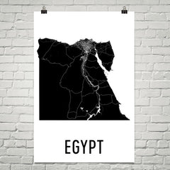 Egypt Wall Map Print - Modern Map Art