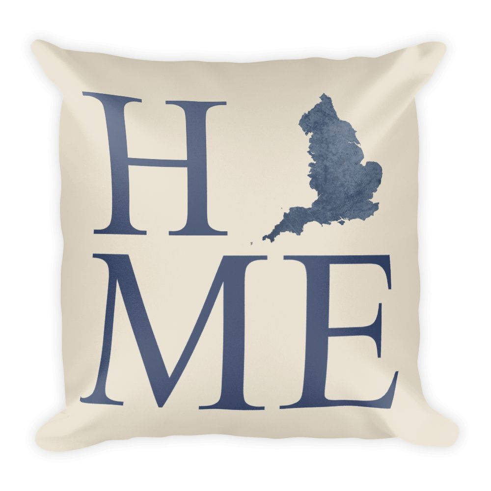 England Map Pillow – Modern Map Art