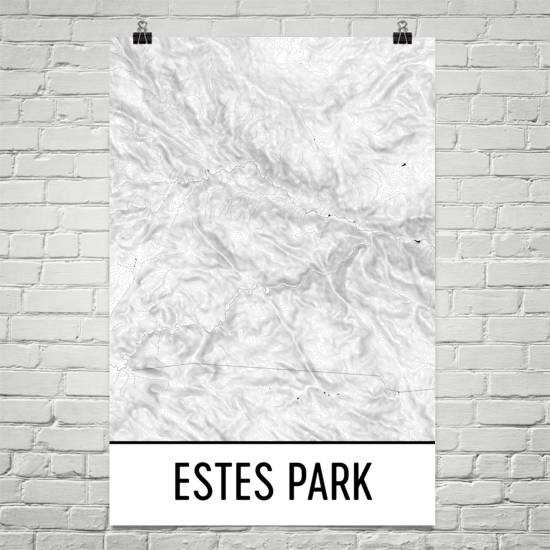 Estes Park Topographic Map Art