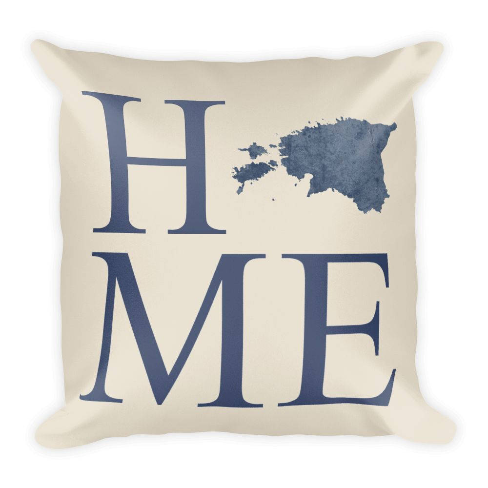 Estonia Map Pillow – Modern Map Art