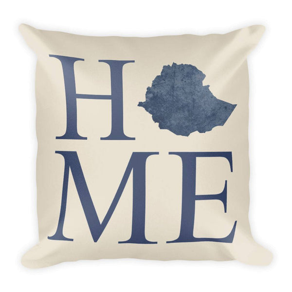 Ethiopia Map Pillow – Modern Map Art