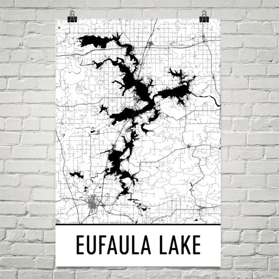 Eufaula Lake OK Art and Maps