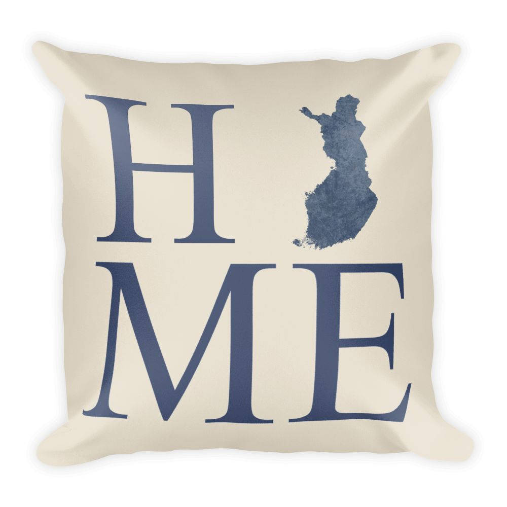 Finland Map Pillow – Modern Map Art