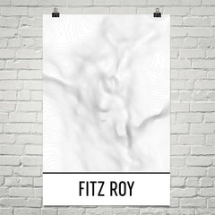 Fitz Roy Patagonia Topographic Map Art