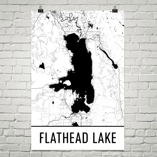 Flathead Lake MT Art and Maps