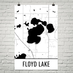 Floyd Lake MN Art and Maps