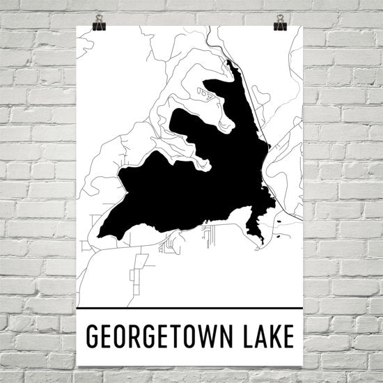 Georgetown Lake MT Art and Maps