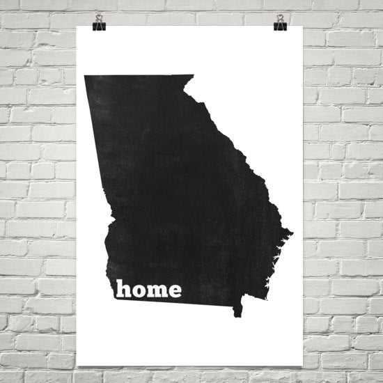 Georgia Home State Map Art