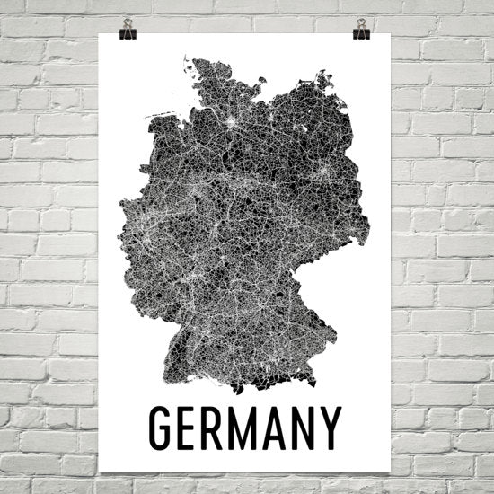 Germany Wall Map Print - Modern Map Art