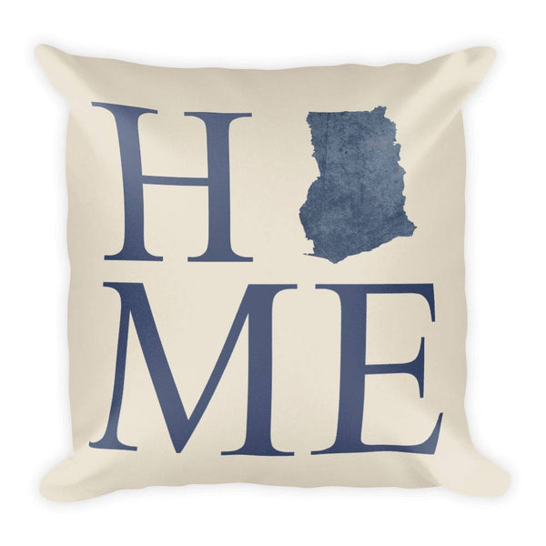 Ghana Map Pillow – Modern Map Art
