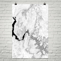Grand Canyon Map Three Panel Topographic Map Art