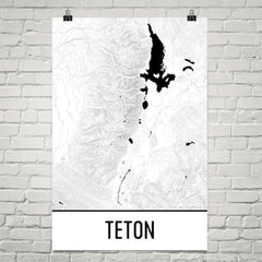 Grand Teton Topographic Map Art