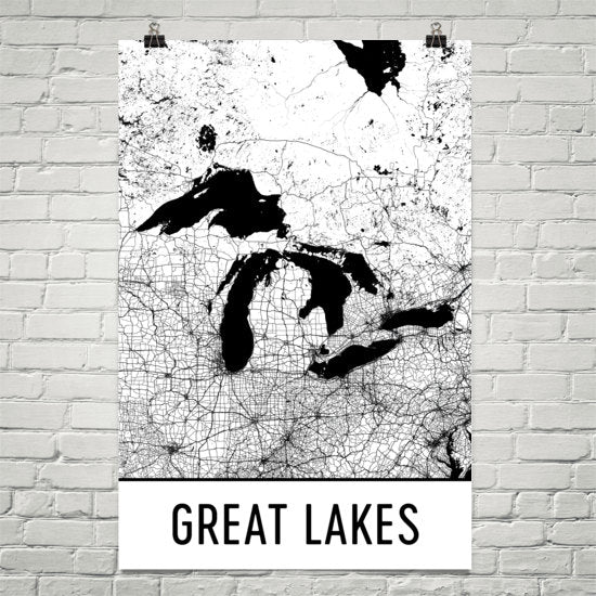 Great Lakes Art and Maps