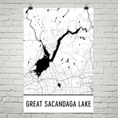 Great Sacandaga Lake NY Art and Maps