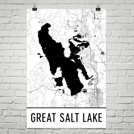 Great Salt Lake UT Art and Maps