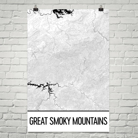 Great Smoky Mountains Topographic Map Art
