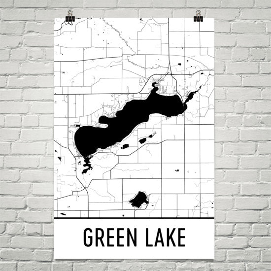 Green Lake WI Art and Maps