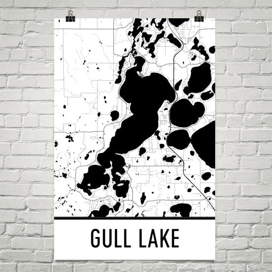 Gull Lake MN Art and Maps