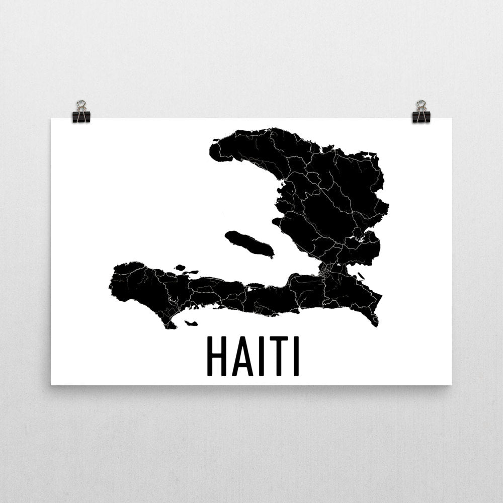 Haiti Wall Map Print - Modern Map Art