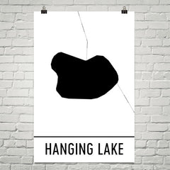 Hanging Lake CO Art and Maps