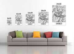 Haute Route Trail Map Art Prints