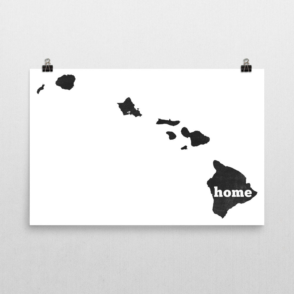 Hawaii Home State Map Art