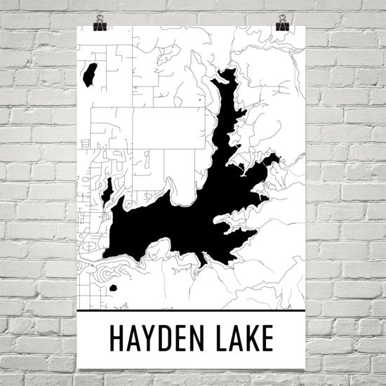 Hayden Lake ID Art and Maps