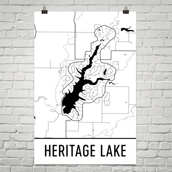 Heritage Lake IN Art and Maps