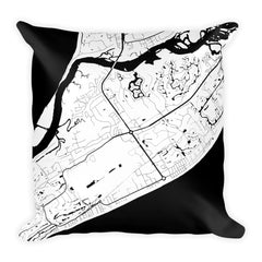 Hilton Head Map Pillow – Modern Map Art