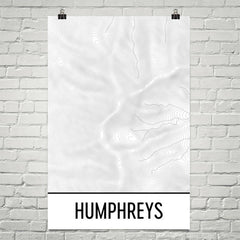 Humphreys Peak Topographic Map Art