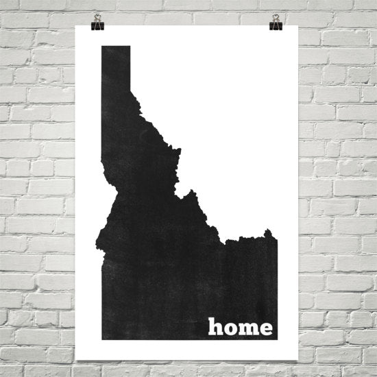 Idaho Home State Map Art