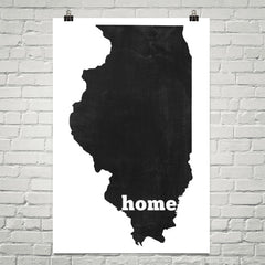 Illinois Home State Map Art