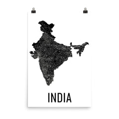 India Wall Map Print - Modern Map Art