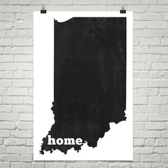 Indiana Home State Map Art