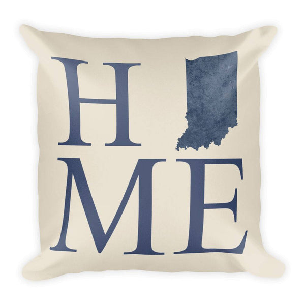 Indiana Map Pillow – Modern Map Art