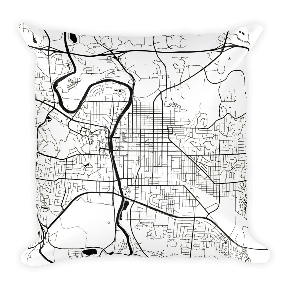Iowa City Map Pillow – Modern Map Art